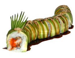 Ролл зеленый дракон - рецепт приготовления