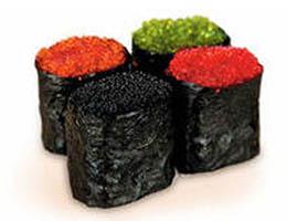 Рецепт суши с икрой тобико